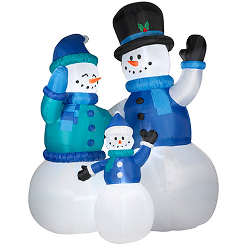 Big outdoor Walmart Christmas inflatables for 2013