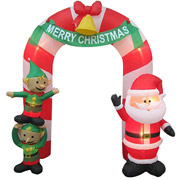 Cool Christmas Inflatable archways at Walmart