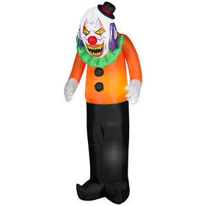scary clown decorations and sightings for Halloween